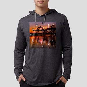 HB12606Clock Mens Hooded Shirt