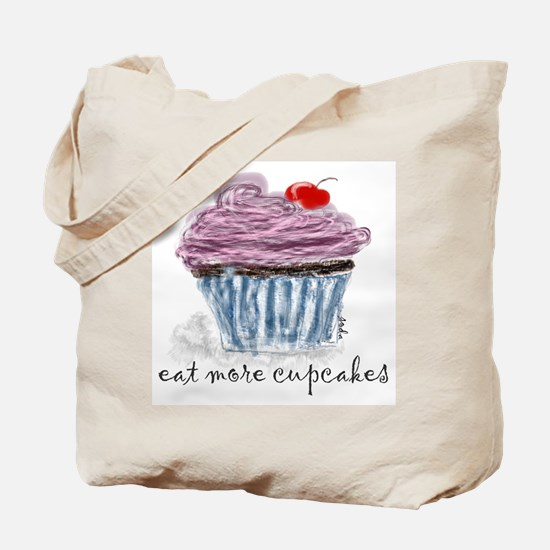 eat more cupcakes Tote Bag