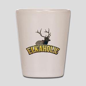 elkaholic Shot Glass