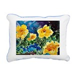 Garden Yellow Floral Rectangular Canvas Pillow