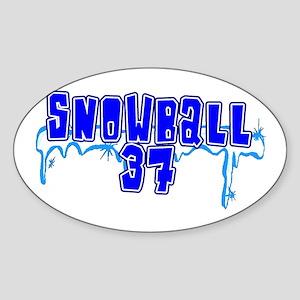 Snowball 37 Oval Sticker