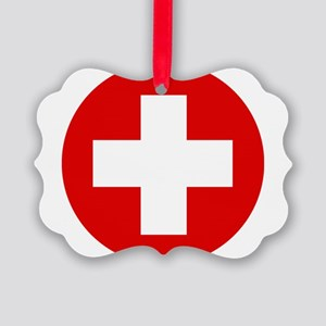 First Aid Kit Picture Ornament