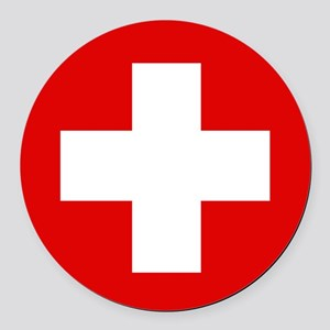 First Aid Kit Round Car Magnet