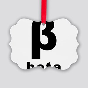 Beta Picture Ornament