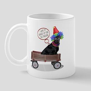 Black Lab Clown Mug