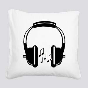 Headphone Square Canvas Pillow