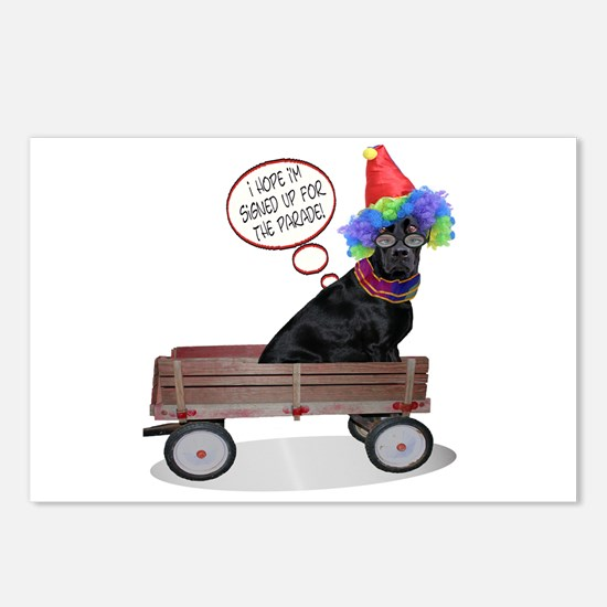 Black Lab Clown Postcards (Package of 8)