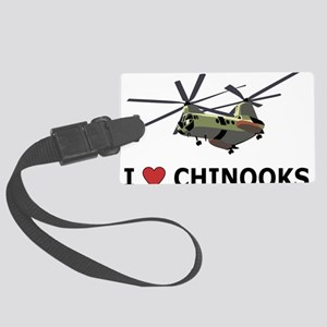 I Love Chinooks Large Luggage Tag