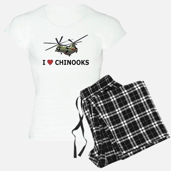 I Love Chinooks Pajamas