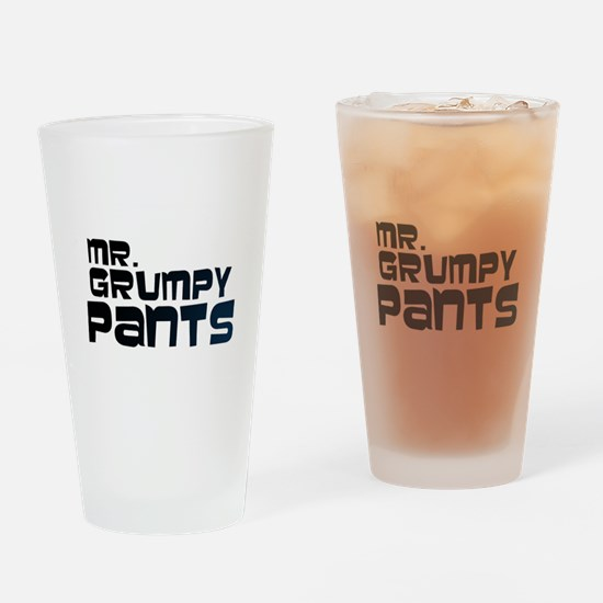 Mr Grumpy Pants Drinking Glass
