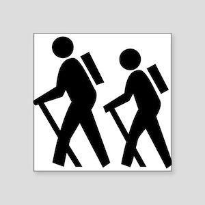 "Hiking Square Sticker 3"" x 3"""