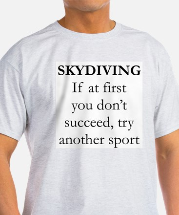 Skydiving Sport Ash Grey T-Shirt