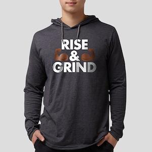 Rise and Grind Arm Emoji Mens Hooded Shirt