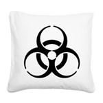 Nuclear Symbol Square Canvas Pillow