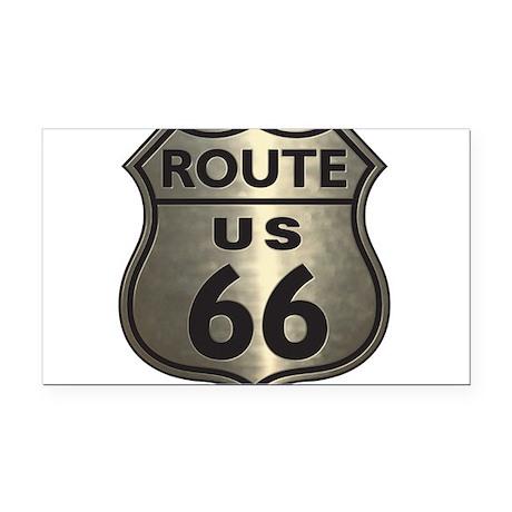Chrome Route66 Rectangle Car Magnet