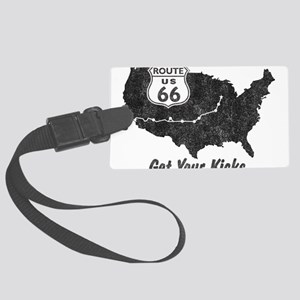 Retro Route66 Large Luggage Tag
