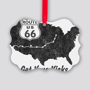 Retro Route66 Picture Ornament