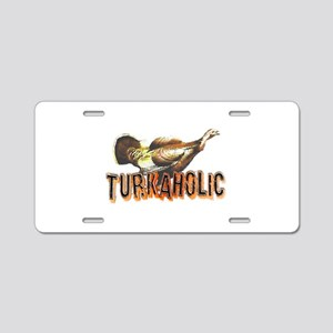 3-turkaholica2 Aluminum License Plate