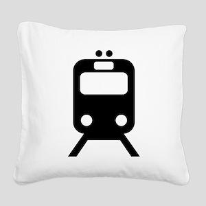 Subway Square Canvas Pillow