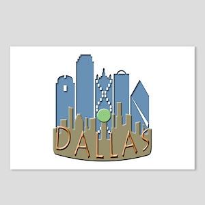Dallas Skyline NewWave Beachy Postcards (Package o