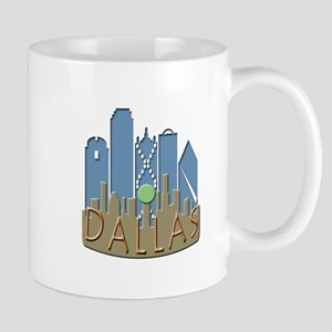 Dallas Skyline NewWave Beachy Mug