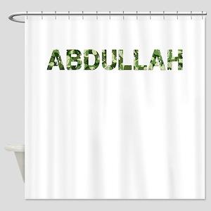 Abdullah, Vintage Camo, Shower Curtain