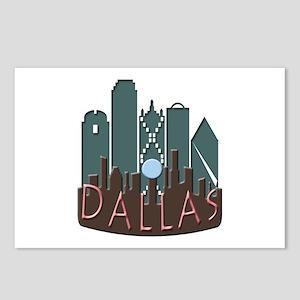 Dallas Skyline NewWave Chocolate Postcards (Packag