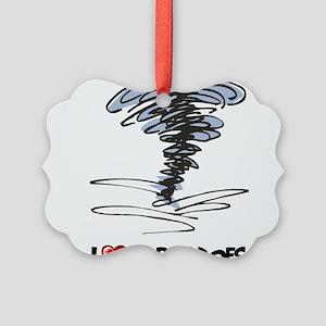 I Love Tornado Picture Ornament