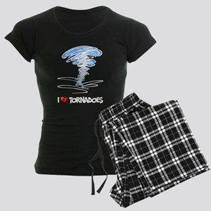 I Love Tornado Women's Dark Pajamas
