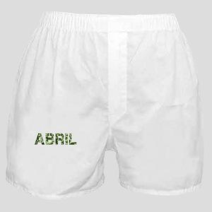 Abril, Vintage Camo, Boxer Shorts