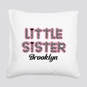 Custom little sister Square Canvas Pillow