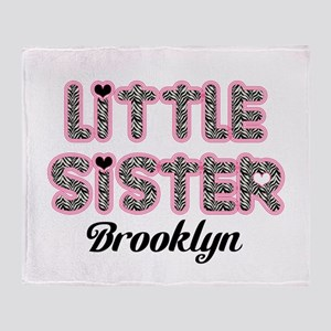 Custom little sister Throw Blanket