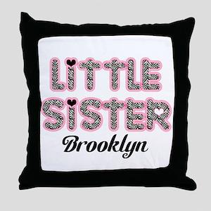 Custom little sister Throw Pillow