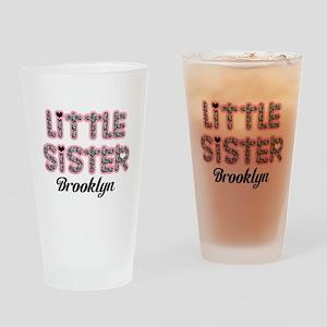 Custom little sister Drinking Glass