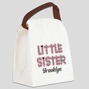 Custom little sister Canvas Lunch Bag