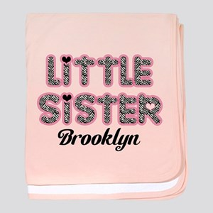 Custom little sister baby blanket