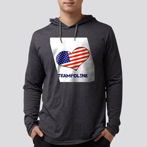 LOVE TRAMPOLINE STARS AND STRIPE Mens Hooded Shirt