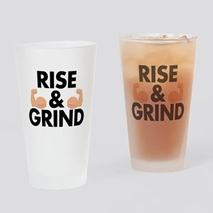 Rise and Grind Arm Emoji Drinking Glass