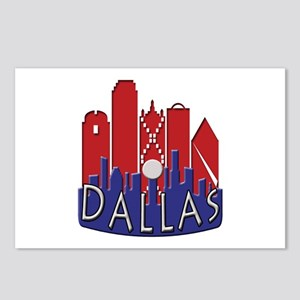 Dallas Skyline NewWave Patriot Postcards (Package