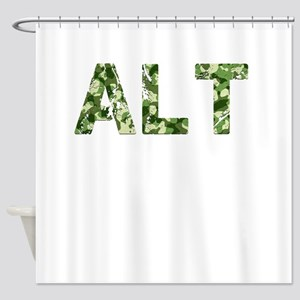Alt, Vintage Camo, Shower Curtain