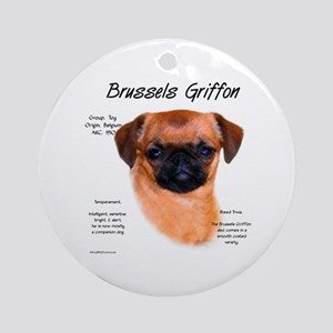 Brussels Griffon (smooth) Round Ornament
