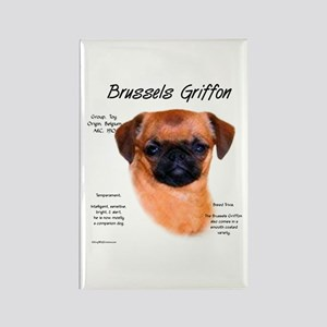 Brussels Griffon (smooth) Rectangle Magnet