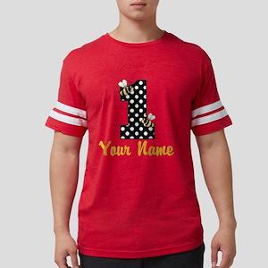 1st Birthday Bumble Bee Mens Football Shirt
