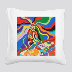 The DJ Square Canvas Pillow