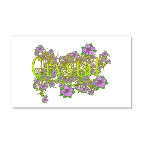 Crystal Floral Lavender Flowers yellow Gold Car Ma