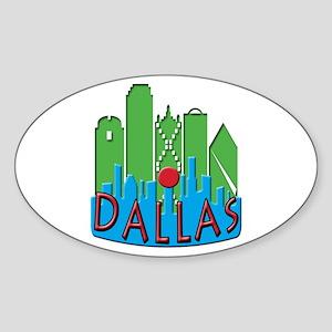 Dallas Skyline NewWave Primary Sticker (Oval)
