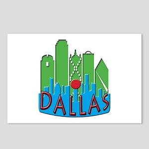 Dallas Skyline NewWave Primary Postcards (Package
