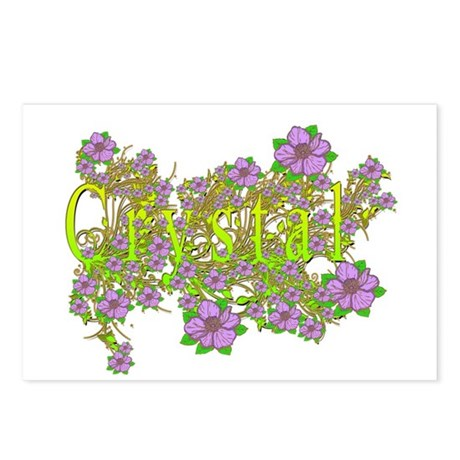 Crystal Floral Lavender Flowers yellow Gold Postca