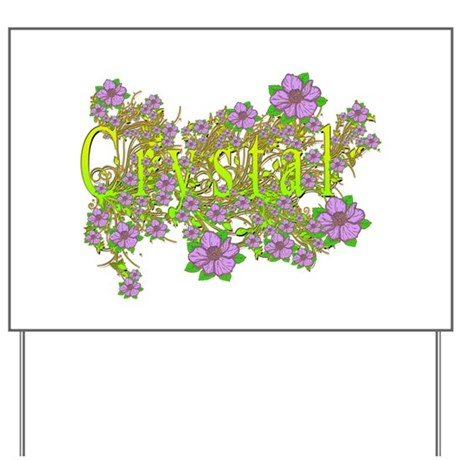 Crystal Floral Lavender Flowers yellow Gold Yard S