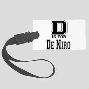 D is for De Niro Large Luggage Tag